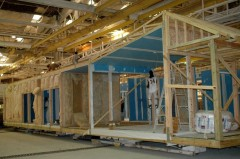 Palm Harbor constructs green modular home inside for the Greenbuild LivingHome Expo in New Orleans