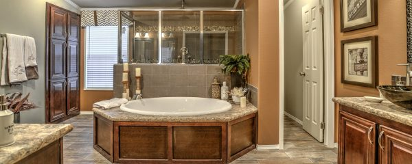 The Hacienda III Master Bath by Palm Harbor Homes