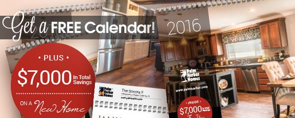 Free 2016 Home Calendar
