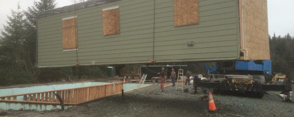 Setting the modular multi-family condos in Juneau
